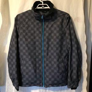 Pulse Gray Plaid Snow Jacket Front Zip Pockets M